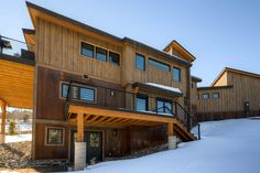 121 Gold Run Circle Residence Breckenridge, CO A606 Weathering Steel Flatlock Wall Panels by MetalTech-USA Photo courtesy of Pinnacle Mountain Homes http://pinnaclemtnhomes.com/