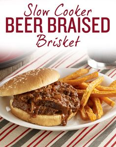with this Slow Cooker Beer-Braised Brisket dinner! Biscuit cooked ...