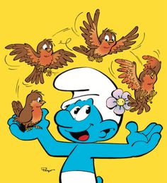 Blue Magic, Disney Cartoons, Stickers, Comics, Paper, Inspiration, The Smurfs, Old Money, Smurfs