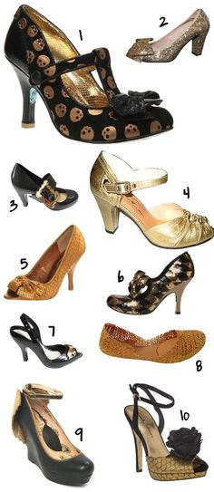 black and gold shoes for a New Orleans Saints outfit for gameday!