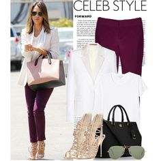 """""""Celebrity Style - Jessica Alba"""" by lidia-solymosi on Polyvore"""