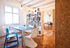 interior office space Old Flat Converted Into Highly Creative Office Space in Bratislava