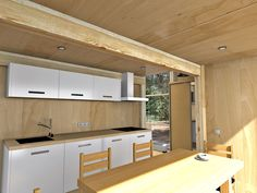 дача современная студия Affordable House Plans, Compact House, Contemporary Cottage, Home Design Plans, Small Homes, Tiny House, Minimalism, Home Goods, Kitchen Cabinets