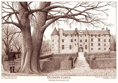 Dudhope Castle before - Dudhope Castle - Wikipedia, the free encyclopedia Scottish Castles, Dundee, 19th Century, Sketches, Artist, Prints, Painting, Outdoor, Nice