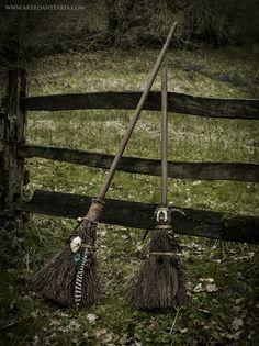 Witch Cat Besom Brooms - ©AKER DANTZARIA