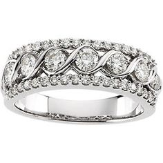 Diamond Anniversary Band  Item #: 65584:60001:P  This design can also be made using champagne, blue or black diamonds, as well as, sapphires or rubies (high grade ones). We love custom designing.