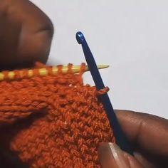 Bicos de Crochê Simples, Fácil e Rápido Para Iniciantes! Knitting Help, Knitting Stiches, Easy Knitting Patterns, Crochet Stitches Patterns, Knitting Videos, Knitting Designs, Hand Knitting, Knit Crochet, Baby Booties