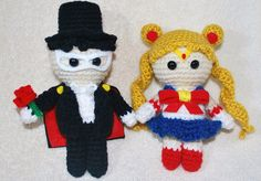 The sailor moon pattern is not mine. Tuxedo was made using Sailor Moon's base.