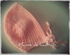Manos de hadita: Gorro capota a crochet