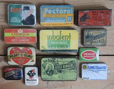 the TYPOLOGIST : collector of collections :collection of vintage cough drop tins