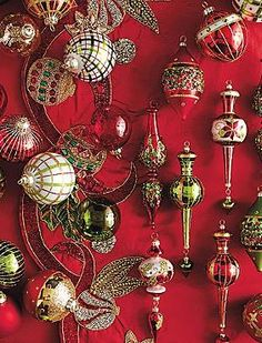 Adorn your Christmas tree with the gorgeous 60-pc. Glad Tidings Ornament Collection that features bright and bold patterns complete with gemstones and sequins.