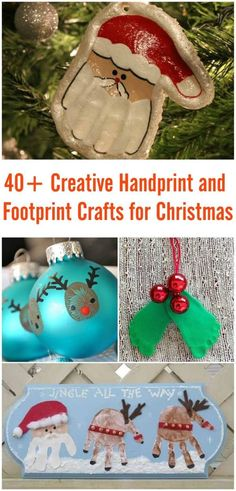 40+ Creative Handprint and Footprint Crafts for Christmas #craft #Christmas #handprint #footprint