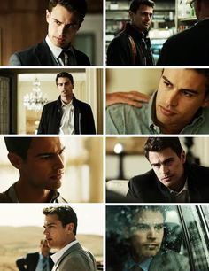 Theo James in Backstabbing For Beginners trailer Divergent Poster, Theo James, Aesthetic Collage, Eye Candy, Movie Posters, Fictional Characters, Bedroom, Hot, Holiday