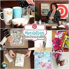 Allred Design Blog: Inspired by Pinterest: Marbling Techniques