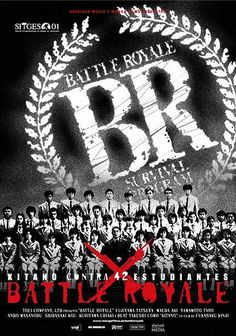 Battle Royale - the original Hunger Games. A class of children are made to fight to the death. But unlike the Hunger Games, this film is properly violent and slightly disturbing. Controversial, but very, very good.