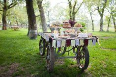 Cake Tables - Wagon - Outdoors - Farm to Table - Wedding