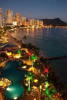 Diamond Head Waikiki Beach Oahu Honolulu Hawaii USA