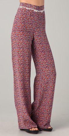Charlotte Ronson Floral Silk Wide Leg Pants    yes ma'am    final sale: $67.50