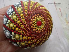 Hey, I found this really awesome Etsy listing at https://www.etsy.com/listing/535823898/jewel-drop-mandala-painted-stone-hand