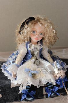 Купить Alice! - голубой, алиса в стране чудес, алиса, алиса в зазеркалье, кукла ручной работы