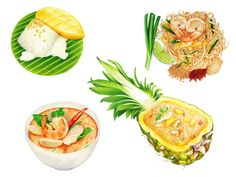 Packaging Illustration: Thai Food