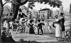 Children dancing in the grounds of a country house ca. 1820. http://www.uvm.edu/~hag/regency/dancing-images.htm