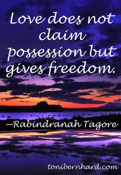 The Bengali philosopher and poet Rabindranath Tagore. Without trust it cannot be truly called love.