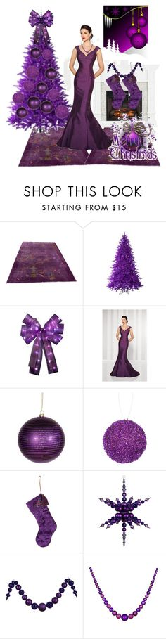 """""""Purple Christmas"""" by mynextlife ❤ liked on Polyvore featuring Cameron Blake, Therapy and Joanna Buchanan"""