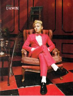 U-Kwon One of the ONLY men who can look this fine in an all red suit