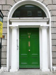 Kelly door in Dublin & rich green front door with brass + black + white #NMFallTrends ...