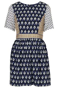 Topshop Mix Tile Print Tea Dress - my newest purchase which fits like a dream!