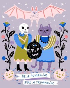 Halloween Illustrations Celebrating the Spookiest Time of Year - PAPER.Halloween illustration by Sarah Walsh Halloween Tags, Halloween Supplies, Pretty Halloween, Vintage Halloween, Happy Halloween, Halloween Countdown, Halloween Halloween, Halloween Illustration, Cute Illustration