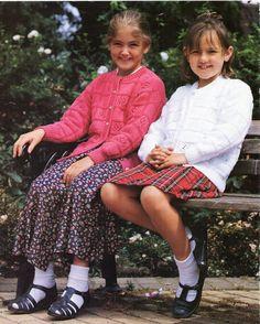 girls cardigans knitting pattern pdf DK childrens lacy от Minihobo