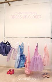 Easy and inexpensive way to create a dress up closet for kids | organization tips