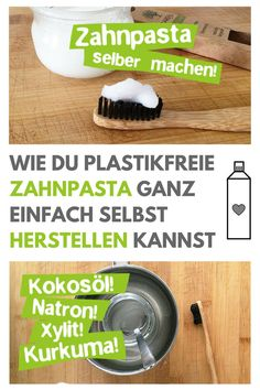 Make toothpaste yourself - with coconut oil, turmeric & xylitol- Zahnpasta selber machen – Mit Kokosöl, Kurkuma & Xylit Plastic-free toothpaste is fast and easy. Diy Beauty Mask, Beauty Tips Easy, Diy Shampoo, Homemade Cosmetics, Dental, Personal Hygiene, Natural Cosmetics, Turmeric, Body Care