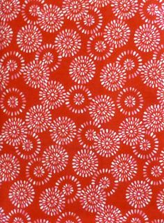 Cotton Fabric, Home Decor, Quilt, Valentine,Modas Surrounded by Love , Circles on Red , Fast Shipping