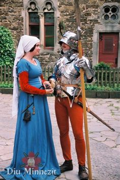 Diu Minnezît - Spätmittelalterliches Paar.