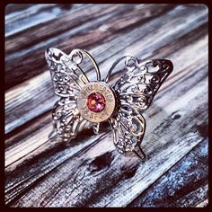 Butterfly Bullet Ring - Pink