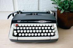 Smith Corona Galaxie II Working Typewriter Vintage Portable Manual Typewriter
