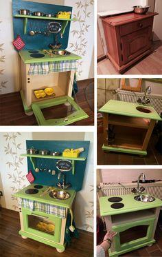 play kitchen DIY, für mein Patenkind!