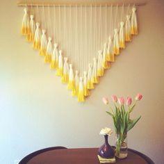 Tassel Wall Hanging // Mega Yellow