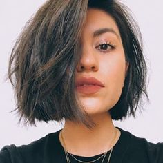 61 Cute Short Bob Haircuts: Short Bob Hairstyles for Every Face Shape Short Hair Styles For Round Faces, Short Hairstyles For Thick Hair, Cute Short Haircuts, Hairstyles For Round Faces, Curly Hair Styles, Trendy Hairstyles, Thick Bob Haircut, Bob Haircut For Round Face, Haircut Long