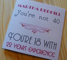 Birthday Handmade Personalised Card - Male-Female - You're not age £2.69
