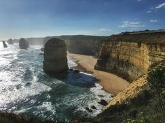 The 12 Apostles! #australia #victoria #greatoceanroad #12apostles #rock #Road #freedom #roadtrip #summer #sun #sunny #blue #sky #sea #ocean #pebbles #cobbles #sand #travel #travelingram #melbourne #australiagram #amazing_australia #adventure by muhannad_mm http://ift.tt/1ijk11S