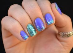 Nailed It.: Shimmer Polish Swatches and Review // Love this color combo. Reminds me of Little Mermaid.
