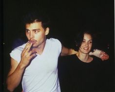Johnny at the birthday party of Herb Ritts on September 18th, 1990