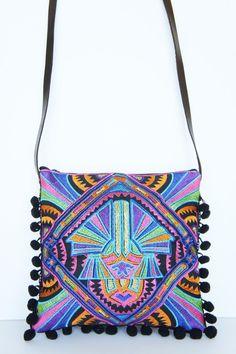 Boho-style Embroidered Messenger bag