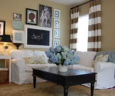 I love love love this living room. Its the nesters, she has awesome decorating ideas.