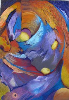Coup de cœur du concours peinture abstraite sur www.myrankart.com Eclosion De Pollen by Claudette ALLOSIO