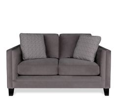 This loveseat also comes in a pale green color